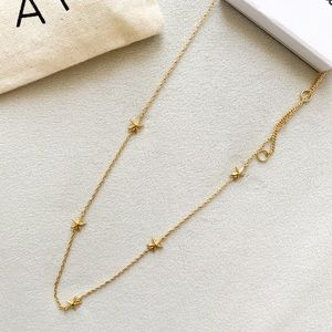 New! Madewell Starfish Gold-plated brass Necklace